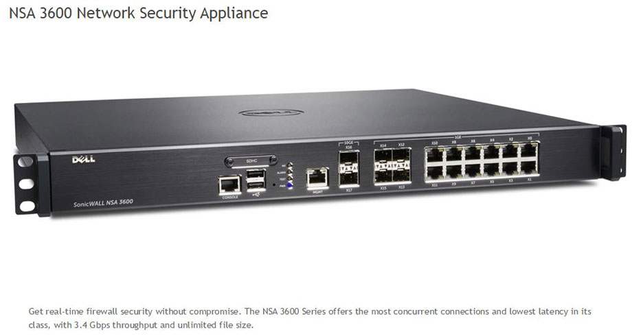 SonicWall NSA 3600 Firewalls